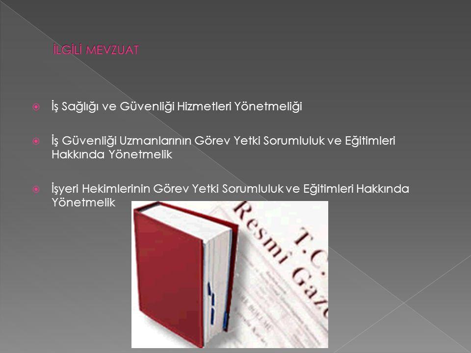  f) Ortak sağlık ve güvenlik birimi (OSGB): İş sağlığı ve güvenliği hizmetlerini sunmak üzere, gerekli donanım ve personele sahip olan ve Bakanlıkça yetkilendirilen kamu kurum ve kuruluşları ile Türk Ticaret Kanunu hükümlerine göre faaliyet gösteren şirketlerce kurulan ve işletilen müesseseleri,  g) İşyeri hekimi: İş sağlığı ve güvenliği hizmetlerinde görevlendirilmek üzere Bakanlıkça belgelendirilmiş hekimi,  ğ) Sorumlu müdür: TSM ve eğitim kurumlarının iş ve işlemlerinden Bakanlığa karşı sorumlu olan, TSM için tam süreli görevlendirilen işyeri hekimini veya Sağlık Bakanlığı tarafından atanan yöneticiyi; eğitim kurumu için ise tam süreli istihdam edilen ve işyeri hekimliği ve iş güvenliği uzmanlığı eğitici belgesine sahip kişiyi,  h) Toplum sağlığı merkezi (TSM): İşyeri hekimliği hizmeti vermek üzere yetkilendirilen Sağlık Bakanlığına bağlı toplum sağlığı merkezlerini,  ifade eder.