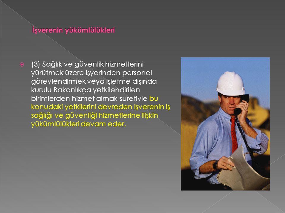  (1) İş güvenliği uzmanının yetkileri aşağıda belirtilmiştir:  a) İşyeri bina ve eklentilerinde, çalışma metot ve şekillerinde veya iş ekipmanında çalışanlar açısından yakın ve hayati tehlike oluşturan bir husus tespit ettiğinde işverene bildirmek, gerekli tedbirler işveren tarafından alınmadığı takdirde durumu Bakanlığa rapor etmek.