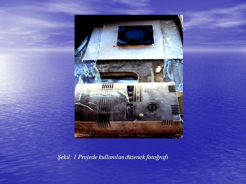 Şekil: 1 Projede kullanılan düzenek fotoğrafı