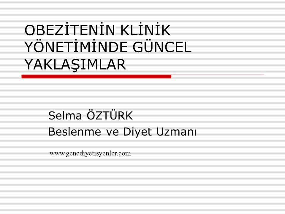 TEDAVİ PRENSİPLERİ www.gencdiyetisyenler.com