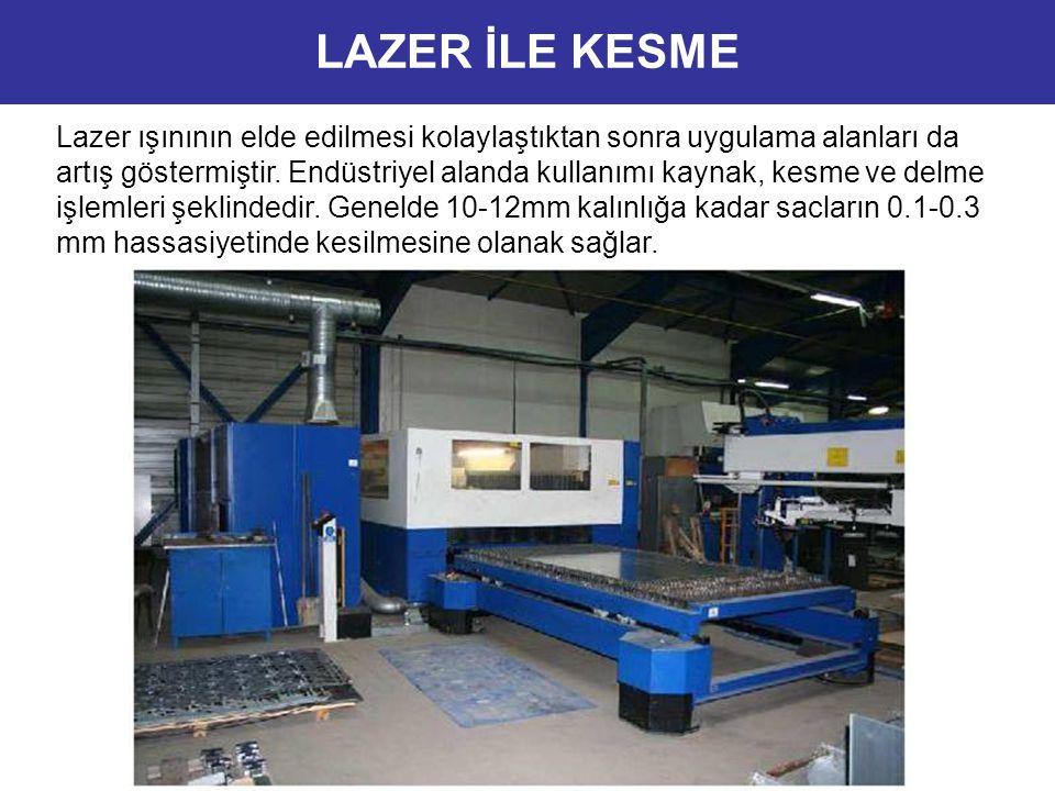 Lazer ışınının elde edilmesi kolaylaştıktan sonra uygulama alanları da artış göstermiştir. Endüstriyel alanda kullanımı kaynak, kesme ve delme işlemle