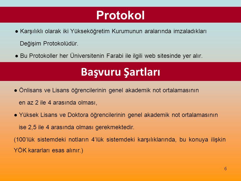 Kısa Öz Bilgiler ● İngilizce Programlara başvurmak için İngilizce düzeyini gösteren belge istenir.