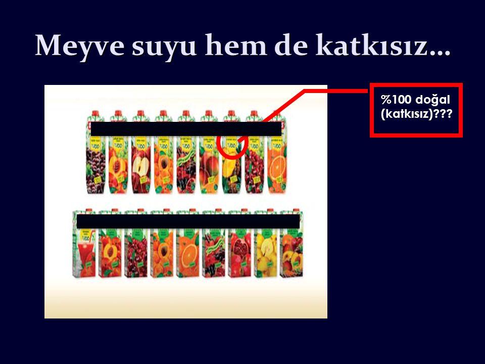 Meyve suyu hem de katkısız… %100 doğal (katkısız)???