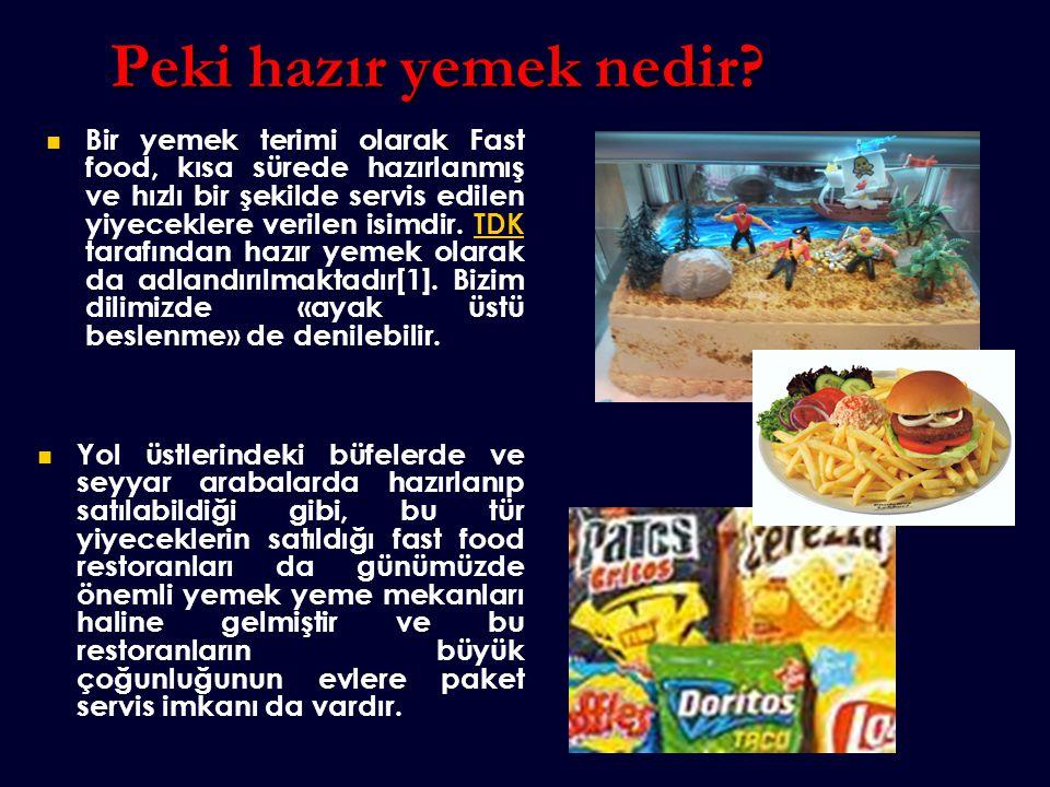 Fast food zaman içinde kötü gıda ile aynı anlamda kullanılmaya başlamıştır.