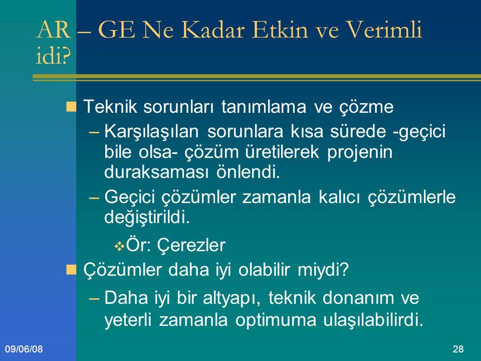 2809/06/08 AR – GE Ne Kadar Etkin ve Verimli idi.