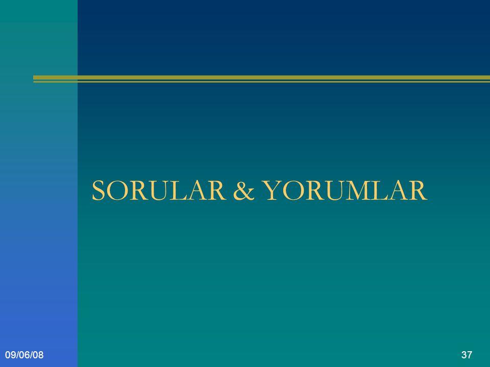 3709/06/08 SORULAR & YORUMLAR