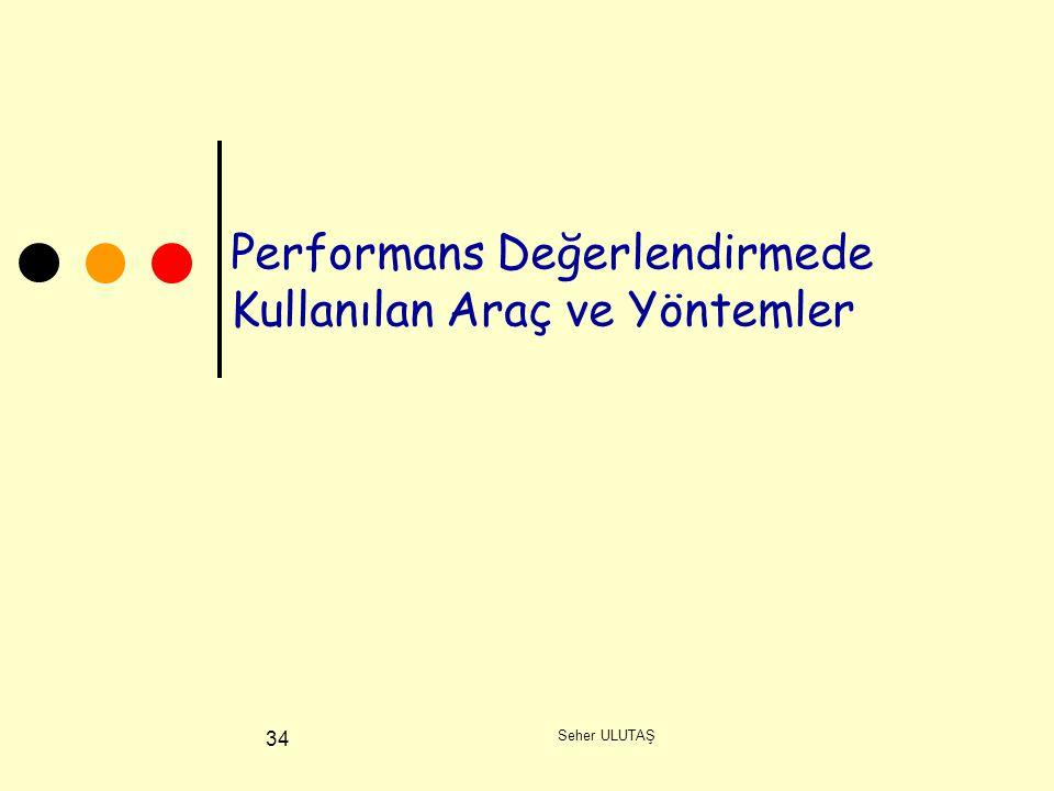 Seher ULUTAŞ 34 Performans Değerlendirmede Kullanılan Araç ve Yöntemler