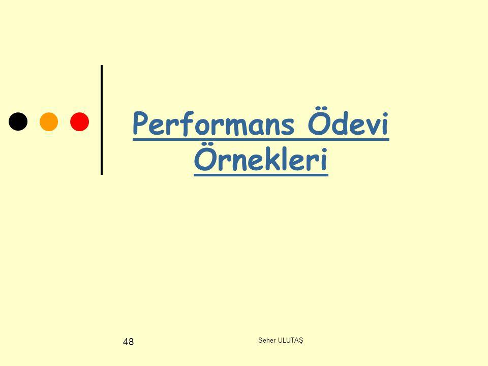 Seher ULUTAŞ 48 Performans Ödevi Örnekleri