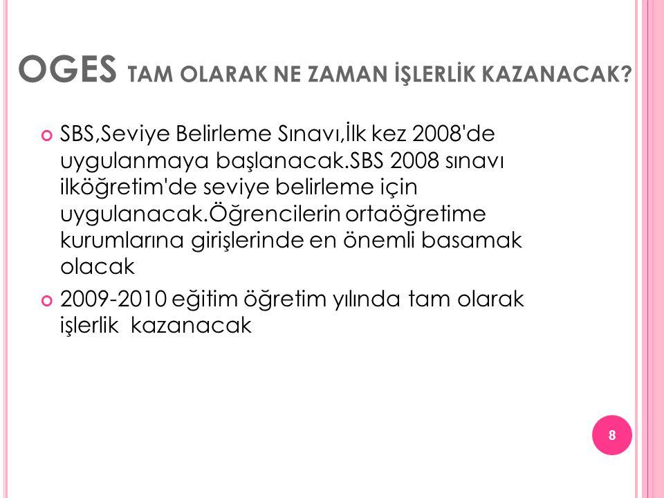 SBS'DE TESTLERİNİN AĞIRLIK KATSAYILARI NE OLACAK.