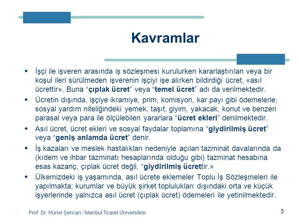 Prof. Dr. Hüner Şencan / İstanbul Ticaret Üniversitesi  İşçi ile işveren arasında iş sözleşmesi kurulurken kararlaştırılan veya bir koşul ileri sürül