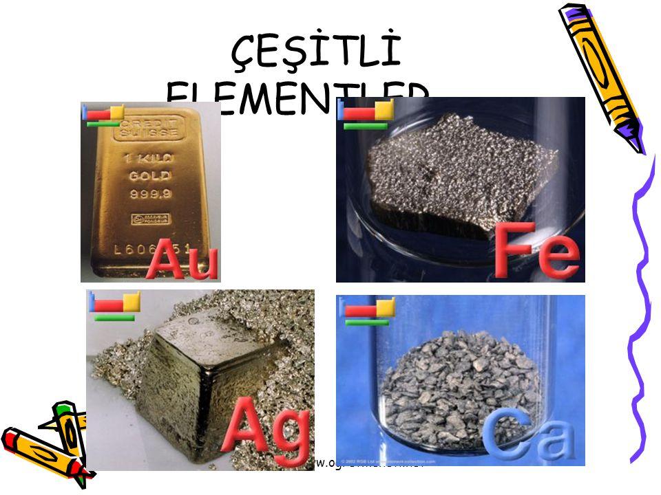 www.ogretmenevi.net ÇEŞİTLİ ELEMENTLER