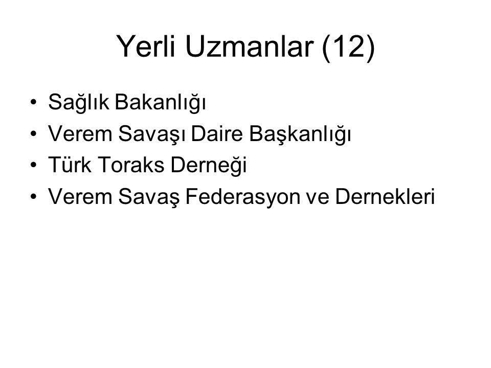 UTP Değerlendirme ekibi 7 Ekip 10 Yabancı ve 15 yerli ekip üyesi Ziyarete gidilen yerler AnkaraIstanbul Bursa Duzce Erzurum Trabzon Rize Diyarbakir Mardin