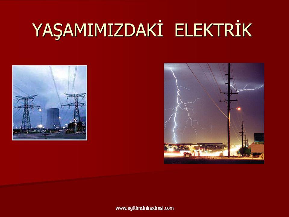 YAŞAMIMIZDAKİ ELEKTRİK www.egitimcininadresi.com