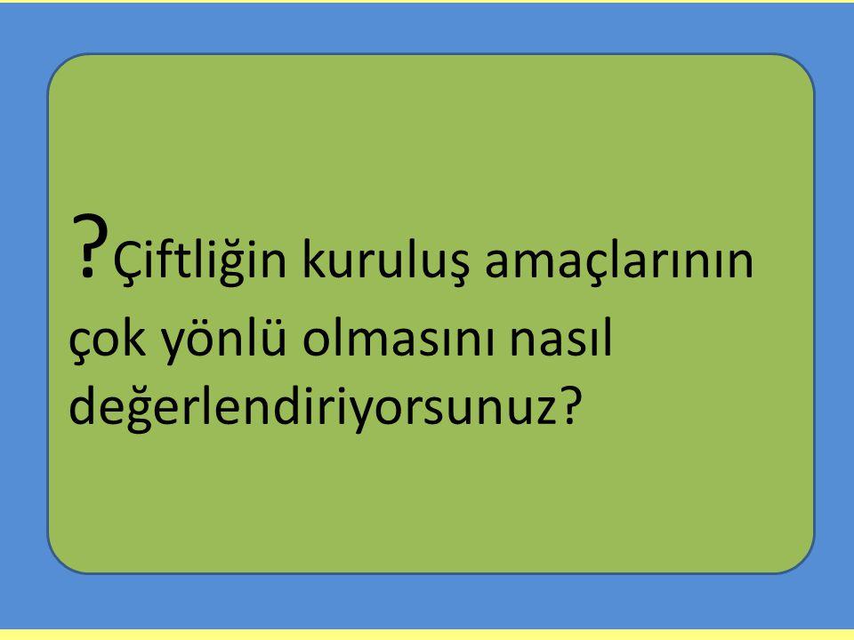 Atatürk Orman Çiftliğinin Kuruluş Amaçları: Örnek çiftlik kurarak tarımı geliştirmek. Bazı bitkileri yetiştirip çiftçilere örnek olarak göstermek. Zir