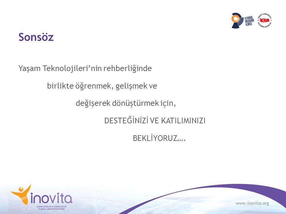 www.inovita.org Sonsöz Yaşam Teknolojileri'nin rehberliğinde birlikte öğrenmek, gelişmek ve değişerek dönüştürmek için, DESTEĞİNİZİ VE KATILIMINIZI BE