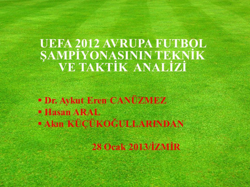 UEFA 2012 AVRUPA FUTBOL ŞAMPİYONASININ TEKNİK VE TAKTİK ANALİZİ  Dr.