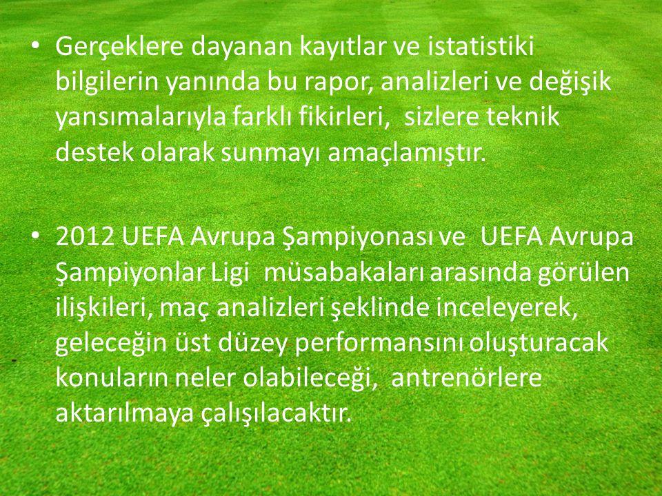 TEKNİK KONULAR OYUN VE KARŞI OYUN Euro 2012 Şampiyonasında 31 maçın değerlendirmesini yönlendirme amacıyla incelemek bizi tam anlamıyla doğru sonuçlara götürmeyebilir.