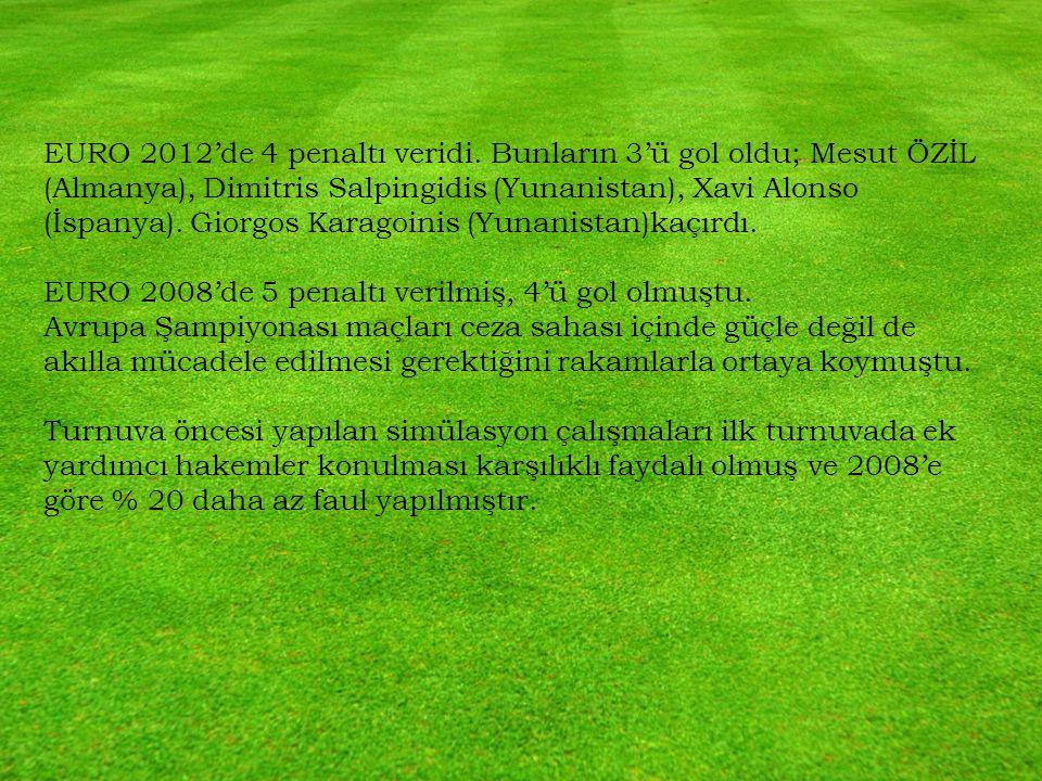 EURO 2012'de 4 penaltı veridi.