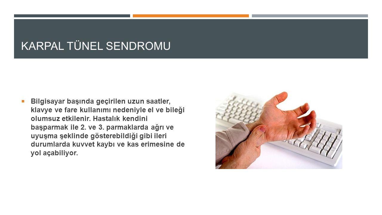 KULLANıLAN KAYNAKLAR http://www.ugurgelisken.com/2013/03/uzun-sureli-bilgisayar-kullaniminda-meydana-gelen-hastaliklar/ http://www.memorial.com.tr/rehberler/saglik_rehberi/bilgisayar-basinda-calisanlarin-hastaligi-karpal-tunel-sendromu/ http://up.ejaaba.com/uploaded/20121228/9H9T_1356712814.jpg (görseller) http://up.ejaaba.com/uploaded/20121228/9H9T_1356712814.jpg http://doctormurray.com/wp-content/uploads/2010/12/carpel-tunnel-relief-nashville.jpg https://newsporapp.s3-eu-west-1.amazonaws.com/media/sozluk/static/92/52de3b5ce91cb.png http://image.cdn.haber7.com/haber/haber7/photos/goz_kurulugu_deyip_gecmeyin13976348420_h1148063.jpg http://www.sifali.org/wp-content/uploads/2012/06/boyun-fitigi-nasil-anlasilir.jpg