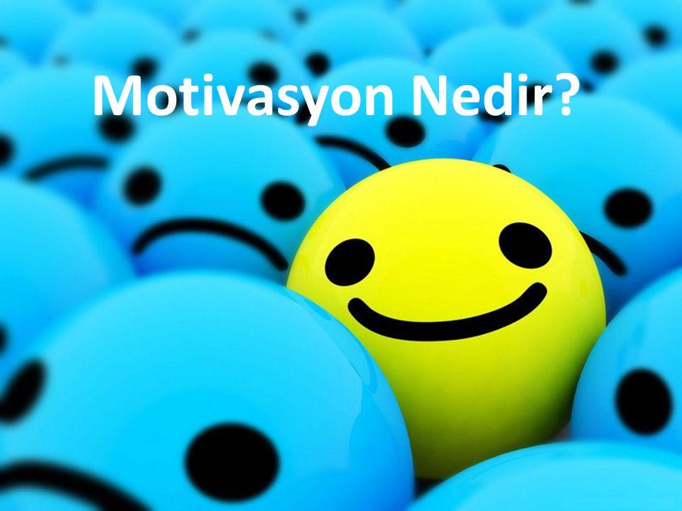 Motivasyon Nedir?