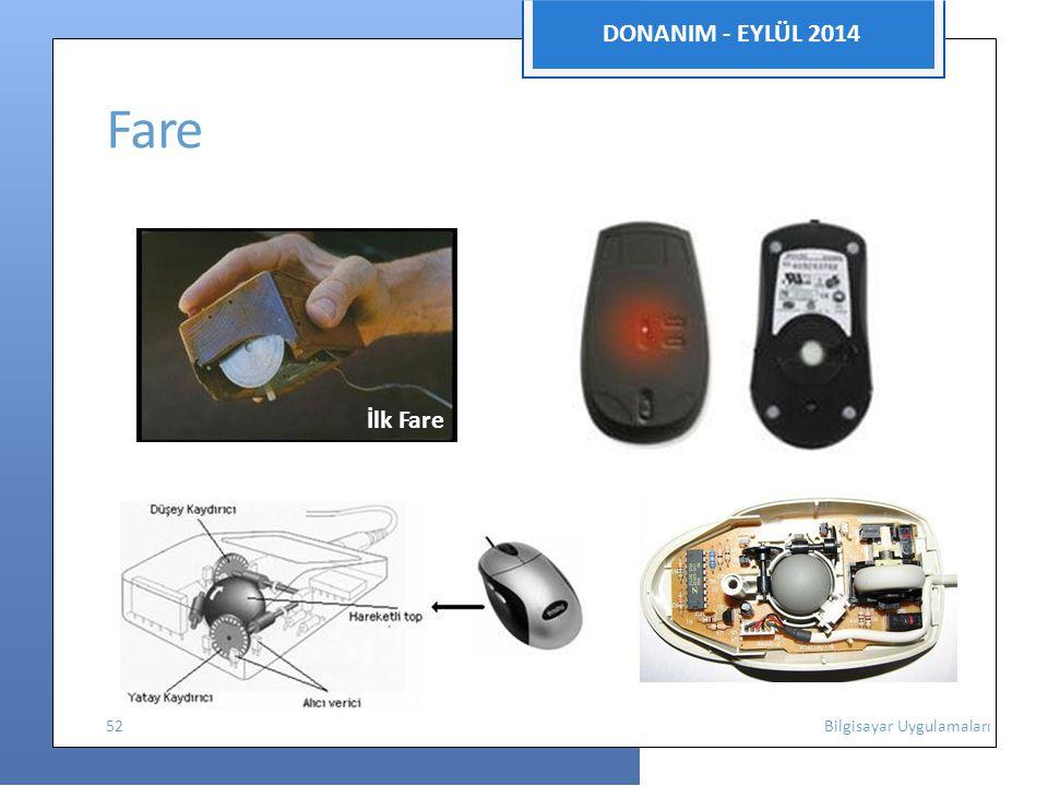 DONANIM - EYLÜL 2014 Fare İlk Fare 52 Bilgisayar Uygulamaları