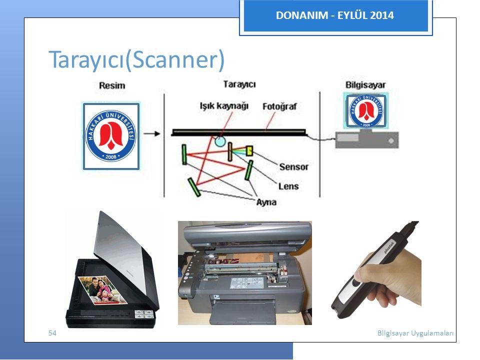 DONANIM - EYLÜL 2014 Tarayıcı(Scanner) 54 Bilgisayar Uygulamaları