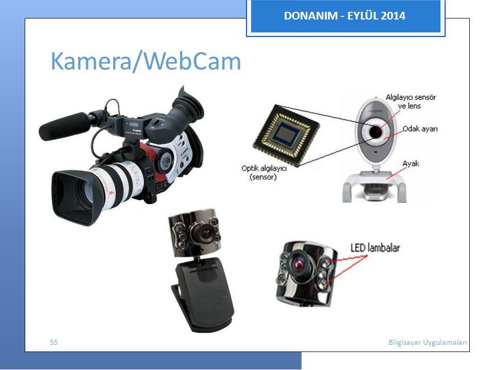 DONANIM - EYLÜL 2014 Kamera/WebCam 55 Bilgisayar Uygulamaları