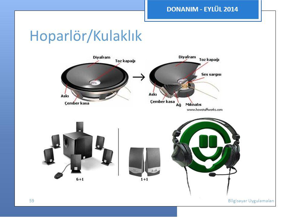 DONANIM - EYLÜL 2014 Hoparlör/Kulaklık 59 Bilgisayar Uygulamaları