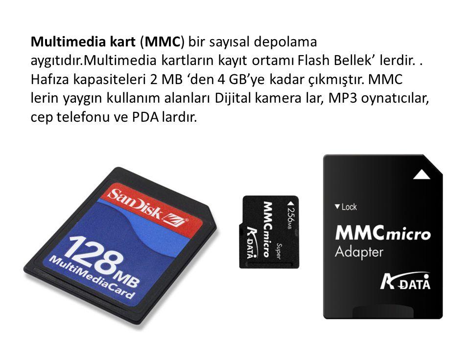 Multimedia kart (MMC) bir sayısal depolama aygıtıdır.Multimedia kartların kayıt ortamı Flash Bellek' lerdir.. Hafıza kapasiteleri 2 MB 'den 4 GB'ye ka