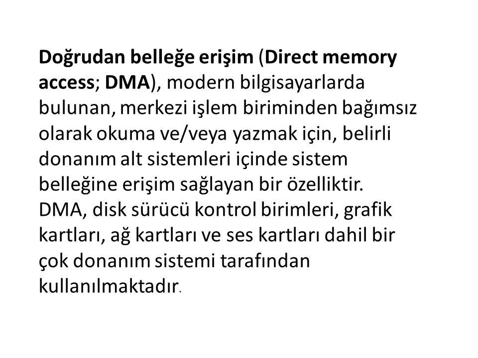 Doğrudan belleğe erişim (Direct memory access; DMA), modern bilgisayarlarda bulunan, merkezi işlem biriminden bağımsız olarak okuma ve/veya yazmak içi
