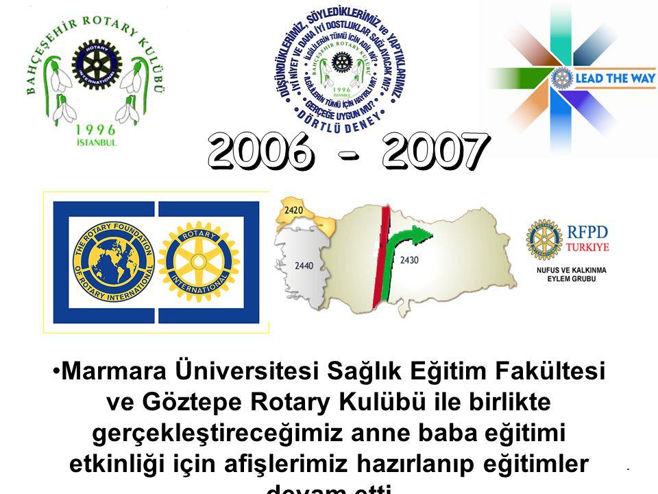 Marmara Üniversitesi Sağlık Eğitim Fakültesi ve Göztepe Rotary Kulübü ile birlikte gerçekleştireceğimiz anne baba eğitimi etkinliği için afişlerimiz h