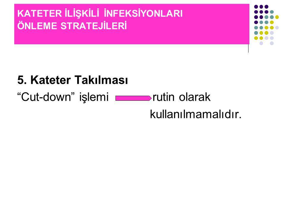 KATETER İLİŞKİLİ İNFEKSİYONLARI ÖNLEME STRATEJİLERİ 5.