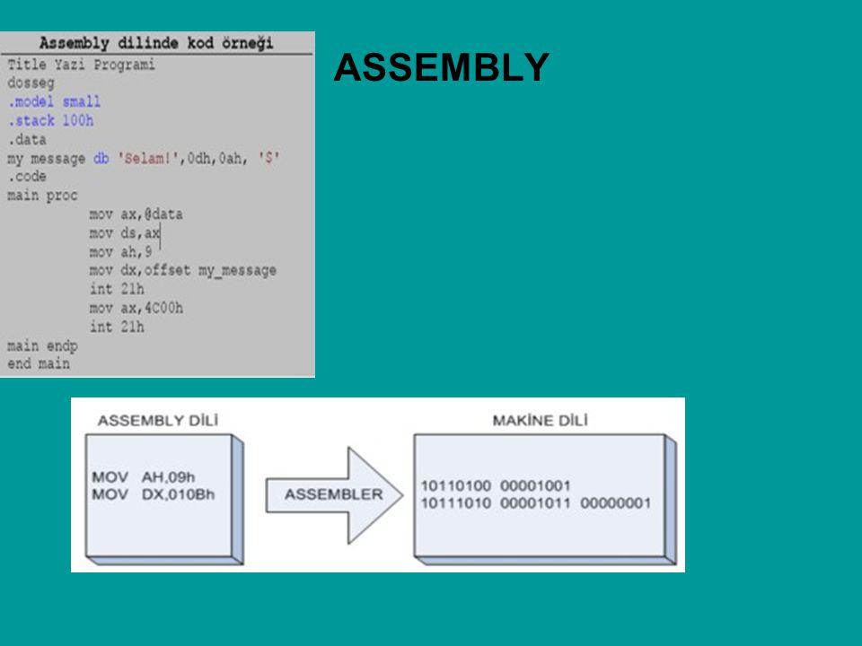 Assembly dili makine dilinden daha rahat yazılmasına rağmen, hala bazı dezavantajlara sahiptir: Yavaş ve çok yer kaplayan programlar oluşur.