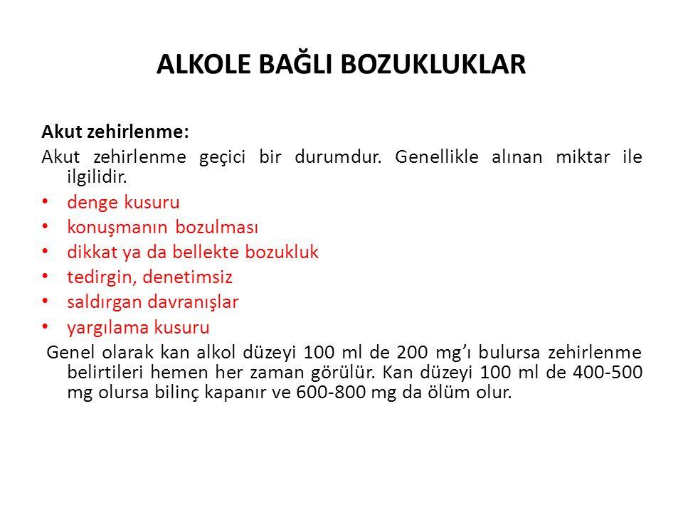 ALKOLE BAĞLI BOZUKLUKLAR 2.