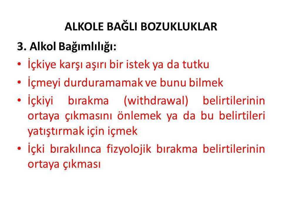 ALKOLE BAĞLI BOZUKLUKLAR 3.