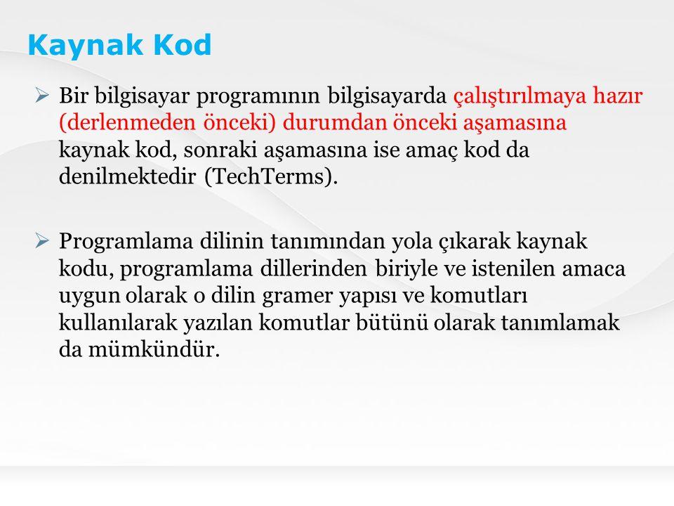 FİKRÎ MÜLKİYET AÇISINDAN BİLGİSAYAR PROGRAMI VE KAYNAK KOD Türkiye'de Bilgisayar Programlarını Koruyan Kanun Türkiye'de bilgisayar programları 5846 sayılı FSEK ile korunma altına alınmıştır.