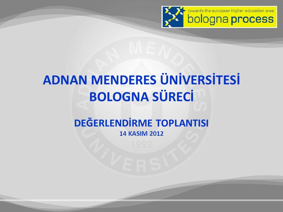 I.ADNAN MENDERES ÜNİVERSİTESİ BOLOGNA SÜRECİ II.