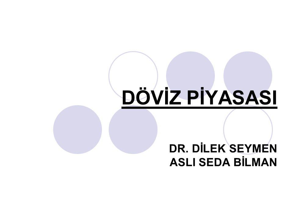 DÖVİZ PİYASASI DR. DİLEK SEYMEN ASLI SEDA BİLMAN