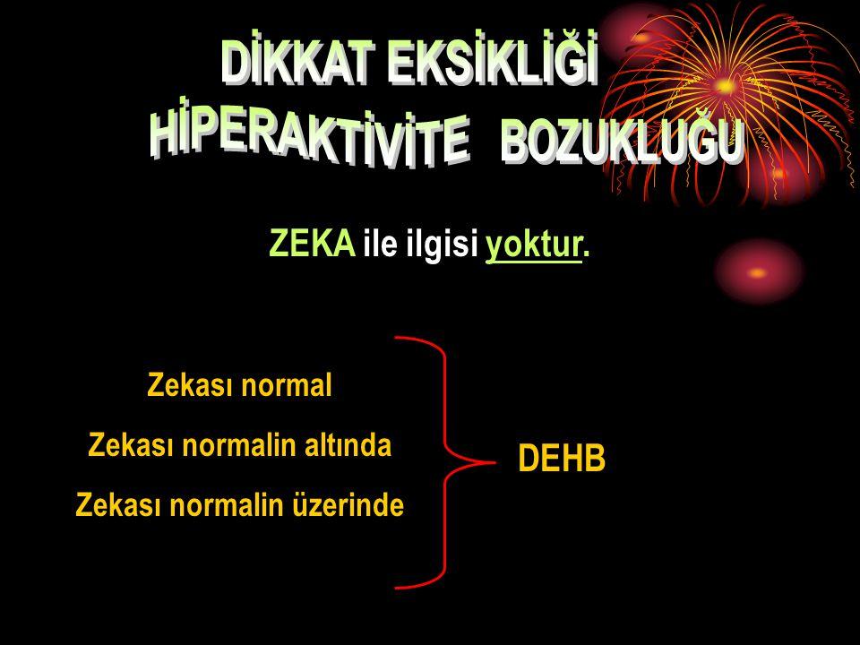 Hiperaktif:. A ş ırı hareketli. Enerjik. Ç ok konu ş kan DEB (dikkat eksikliği) :. Düşük enerjili. İçe dönük. Sınıfta daha az konuşan. Hayal kuran