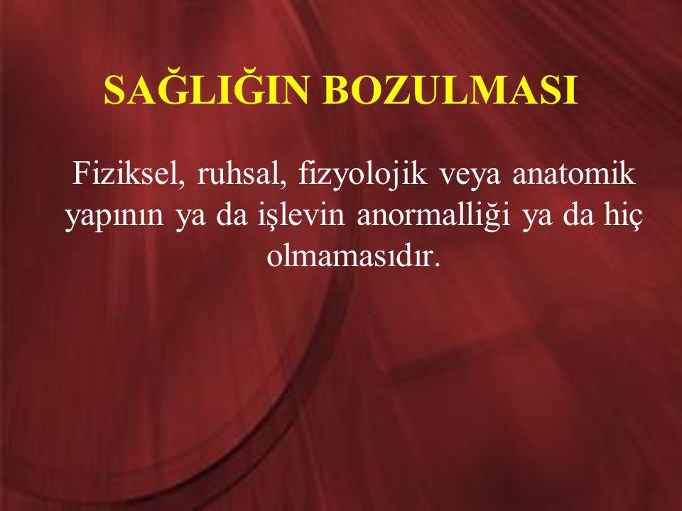 ÖZÜRLÜLÜK ve ENGELLİLİĞİN SINIFLANDIRILMASI 1.Ortopedik→Fiziksel 2.