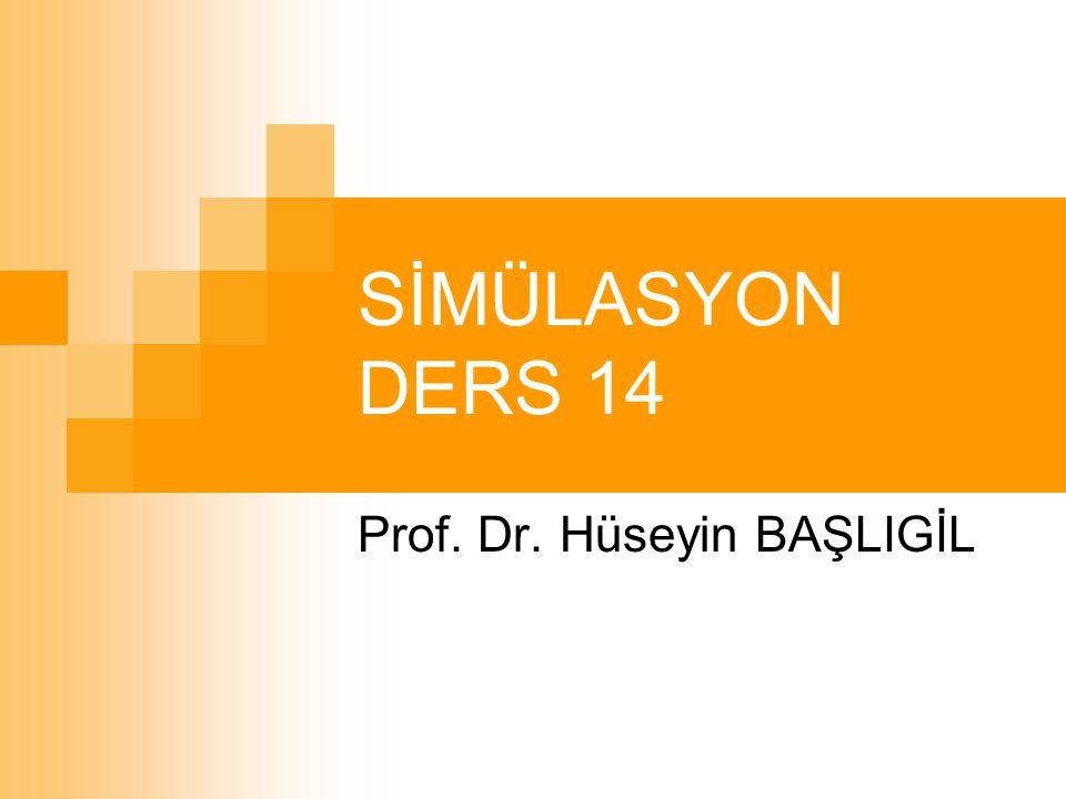 SİMÜLASYON DERS 14 Prof. Dr. Hüseyin BAŞLIGİL
