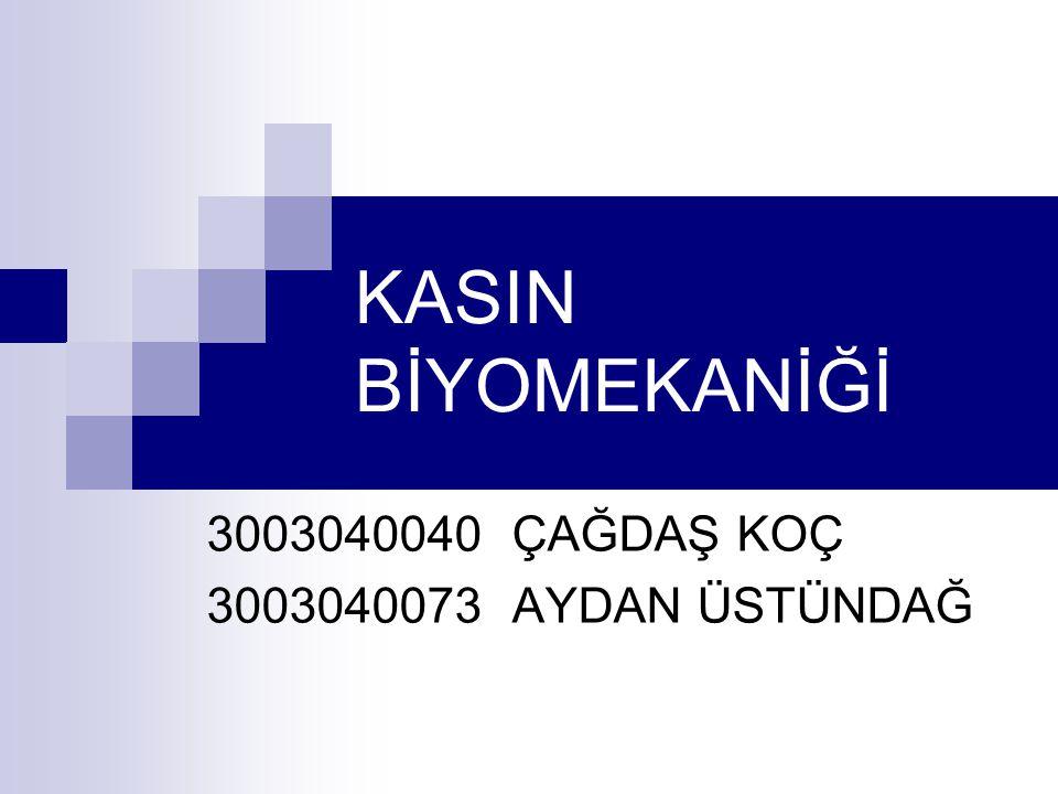 KASIN BİYOMEKANİĞİ 3003040040 ÇAĞDAŞ KOÇ 3003040073 AYDAN ÜSTÜNDAĞ