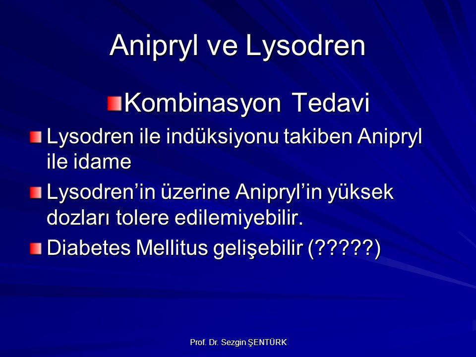 Prof. Dr. Sezgin ŞENTÜRK Anipryl ve Lysodren Kombinasyon Tedavi Lysodren ile indüksiyonu takiben Anipryl ile idame Lysodren'in üzerine Anipryl'in yüks