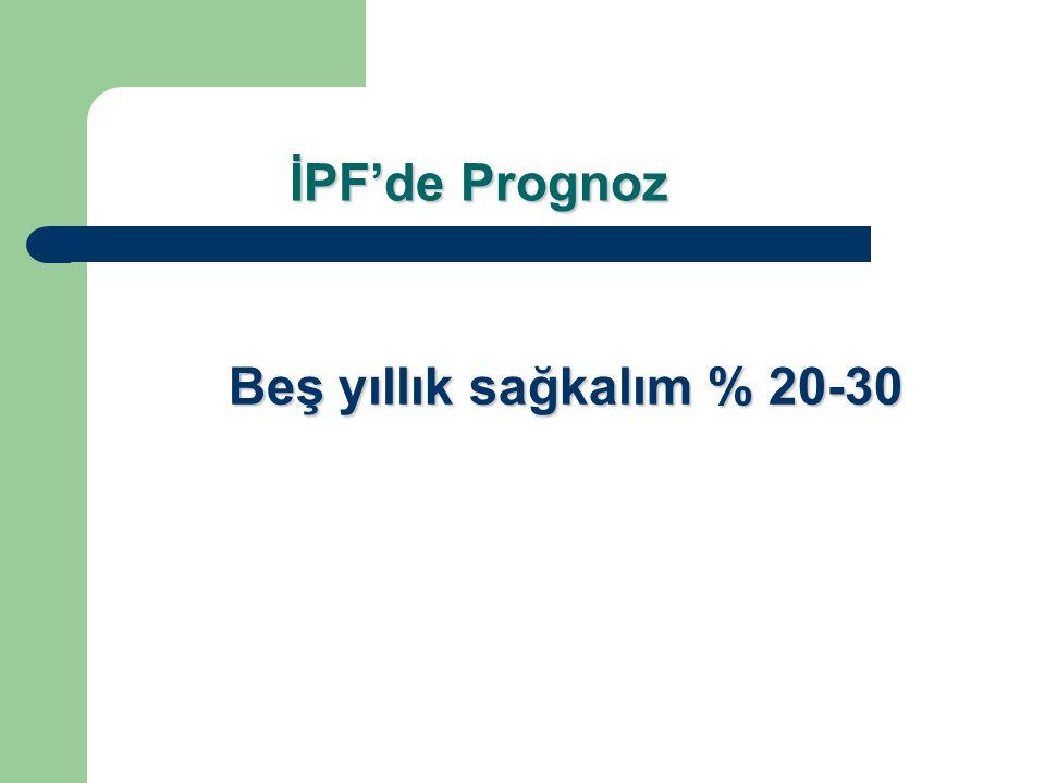 İPF'de Prognoz Beş yıllık sağkalım % 20-30