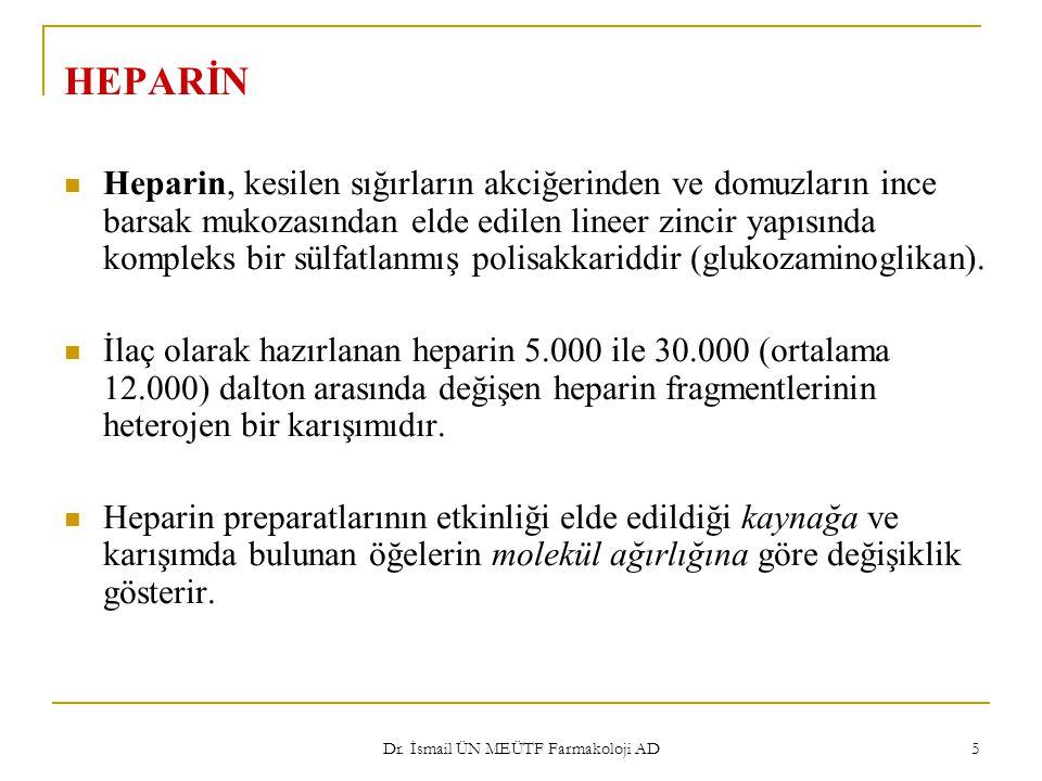Dr.İsmail ÜN MEÜTF Farmakoloji AD 16 Preparatlar ve uygulama şekilleri 1.