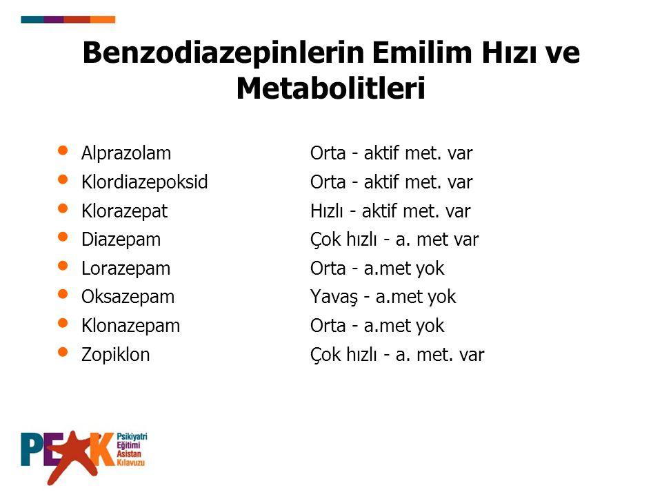 Benzodiazepinlerin 5 Temel Farmakolojik Etkisi 1- Anksiyete gidericidirler.