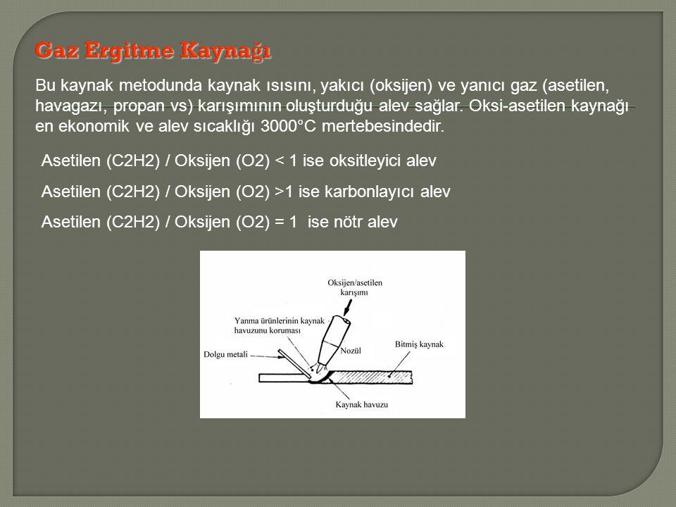 Bu kaynak metodunda kaynak ısısını, yakıcı (oksijen) ve yanıcı gaz (asetilen, havagazı, propan vs) karışımının oluşturduğu alev sağlar.