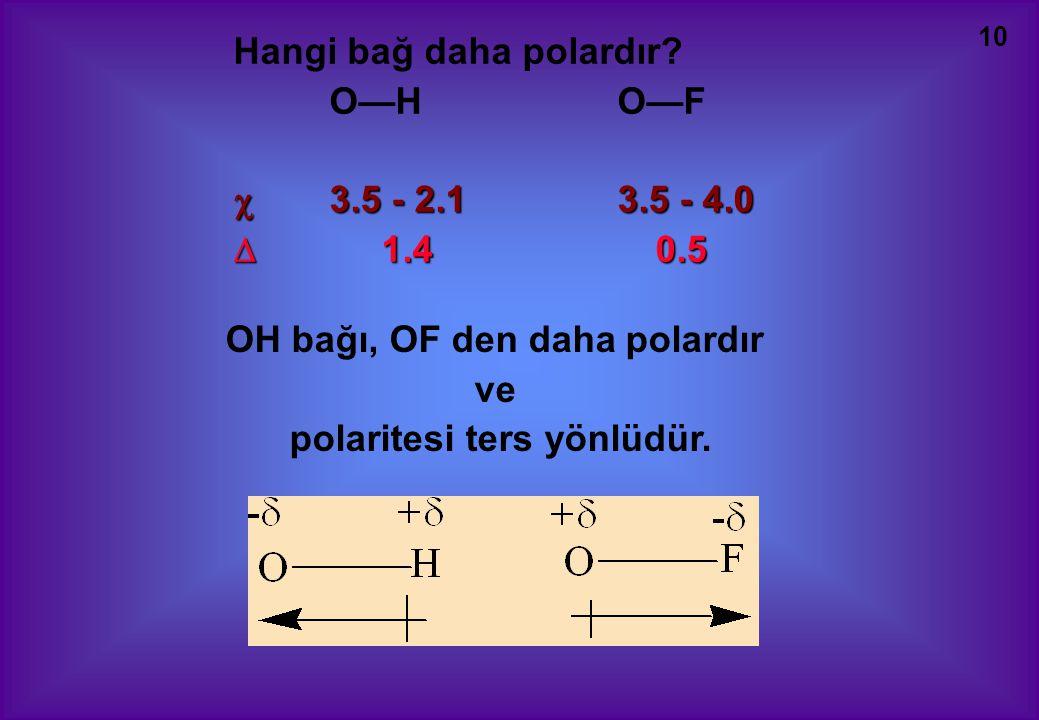 10 Hangi bağ daha polardır.