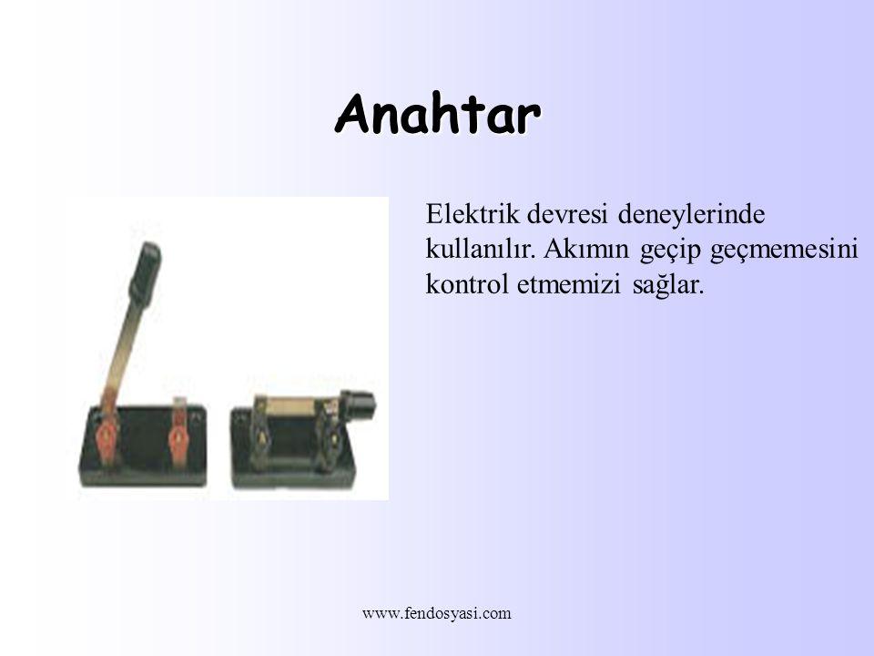 www.fendosyasi.com Anahtar Elektrik devresi deneylerinde kullanılır.