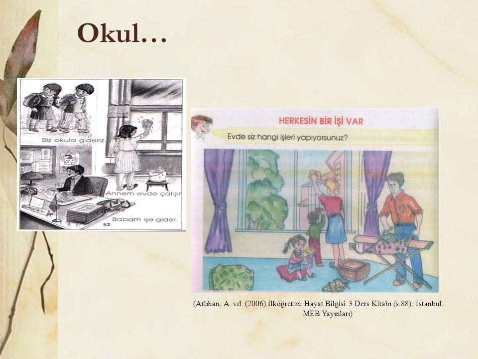Okul… (Atlıhan, A. vd. (2006).İlköğretim Hayat Bilgisi 3 Ders Kitabı (s.88), İstanbul: MEB Yayınları)